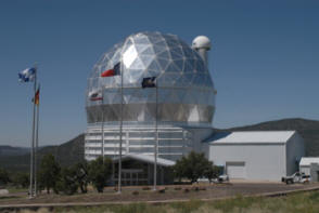 photo of telescope at the McDonald Observatory