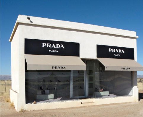 photo of Prada installation in Valentine, Texas