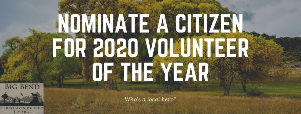 Nominate a citizen for 2020 Volunteer of the Year.